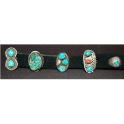 FIVE NAVAJO RINGS