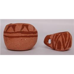 TWO MINI  MOHAVE POTS