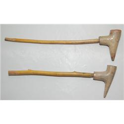 TWO PUEBLO POTTERY PIPES