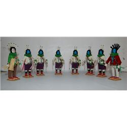 SET OF 8 NAVAJO YEI KACHINAS