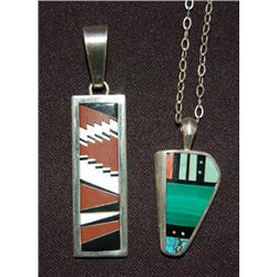 TWO NAVAJO PENDANTS