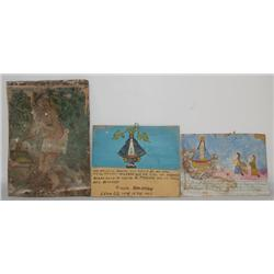 THREE MEXICAN RETABLOS