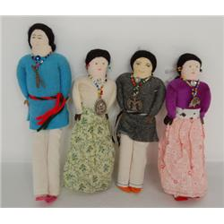 FOUR NAVAJO DOLLS