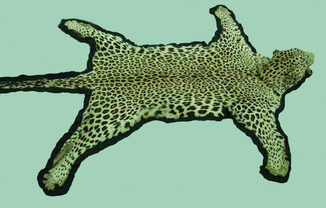 Faux leopard skin rug - Faux animal skin rugs ...