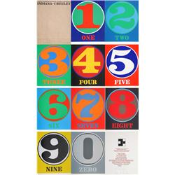 Robert Indiana, Numbers Portfolio, 10 Serigraphs