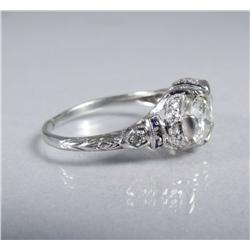 A Ladies Platinum, Diamond and Sapphire Ring,