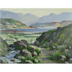 C.M. Doran (20th Century) Lough Na-Fooey Connemara, Oil on Board,
