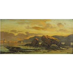 T.C. Randell (20th Century) Landscape, Oil on Canvas,