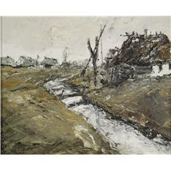 Artist Unknown, (20th Century, Polish) Landscape, Oil on Canvas,