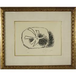 George Braque (1882-1963) Saint-Pol-Roux-Aout, 1958, Aquatint,
