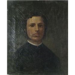 Artist Unknown (19th Century) Portrait of a Gentleman, Oil on Canvas,