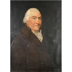 After Gilbert Stuart (1755-1828, American) Man in Brown Coat, Oil on canvas,