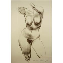 Shirley A. Campbell (b. 1925, Ohio) Madeline, Lithograph,