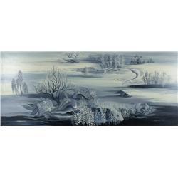 Lee Orringer Clasky (20th Century) Sea Creatures, Oil on Board,