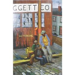 Milton Leggett (20th Century) Untitled, Oil on Board,