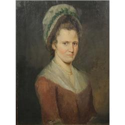 Artist Unknown (19th Century) Portrait of a Lady, Oil on Wood.