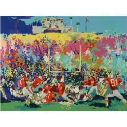 LeRoy Neiman (b.1927, American) Rose Bowl, Ohio State vs. USC, Lithograph,