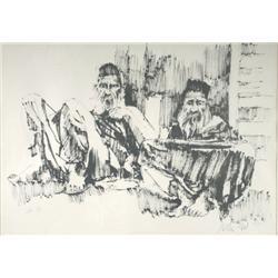 Moshe Gat (b. 1935, Israeli) Untitled, Lithograph,