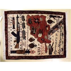 An Afghanistan Wool War Rug,