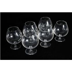 A Set of Six Steuben Brandy Snifters.