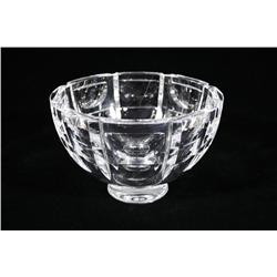 An Orrefors Crystal Footed Bowl.
