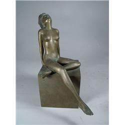Louis Demartino (20th Century) Figure of a Woman, Bronze,