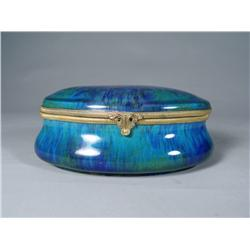 A Sevres Porcelain and Gilt Brass Lidded Box.