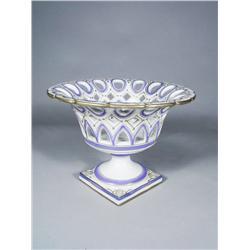 An Espana Pierced Porcelain Center Piece.