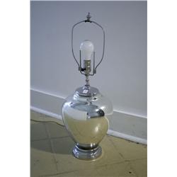 A Karl Springer Mercury Glass Table Lamp.
