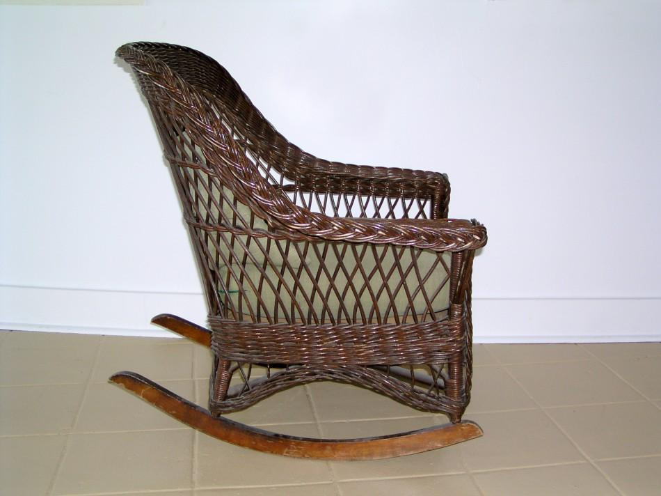 Pleasant A Mid Century Modern Heywood Wakefield Wicker Rocking Chair Gmtry Best Dining Table And Chair Ideas Images Gmtryco