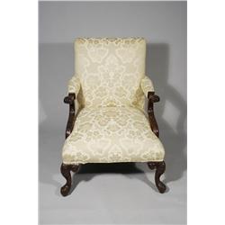 A Georgian Style Mahogany Arm Chair, 20th Century.