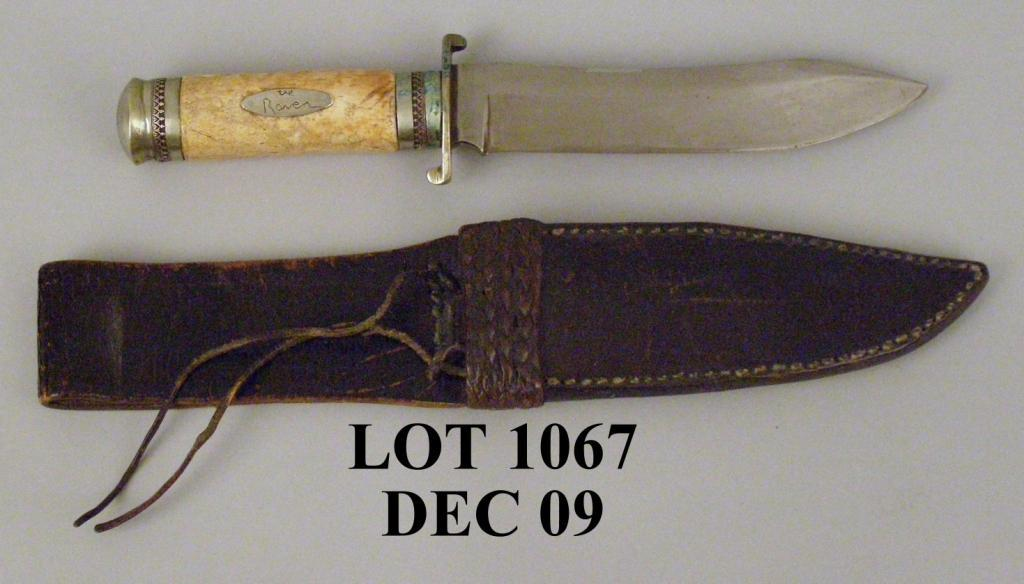 "Bowie Knife w/ Bone Handle 7"" blade  Nicely made"