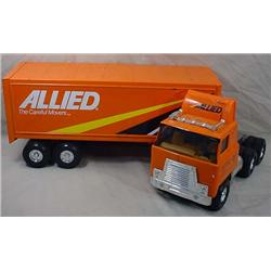 ERTL ALLIED MOVERS SEMI TRUCK AND TRAILER