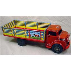 VINTAGE MARX TIN LAZY DAY FARMS STOCK TRUCK AND TR