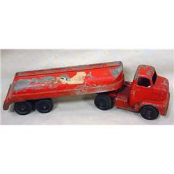 VINTAGE TOOTSIETOY MOBILE OIL TRUCK AND TRAILER