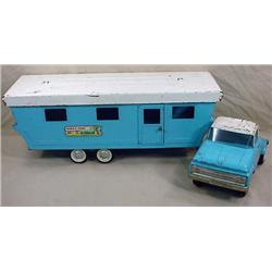 VINTAGE NYLINT TRUCK AND MOBILE HOME TRAILER