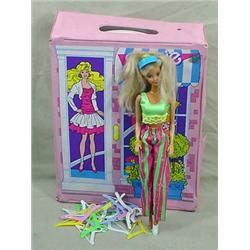 BARBIE CARRYING CASE W/ BARBIE DOLL AND HANGERS