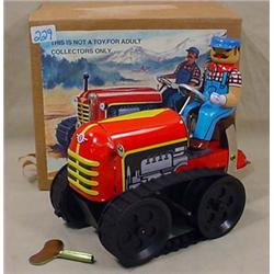 TIN COLLECTIBLE TRACTOR MS 356 IN ORIGINAL BOX