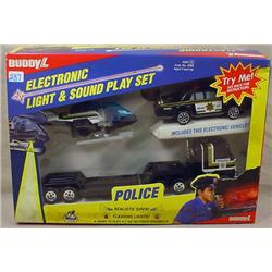 BUDDY L ELECTRONIC LIGHT AND SOUND POLICE PLAY SET