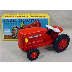 VINTAGE FARM TRACTOR - FRICTION POWERED IN ORIGINA