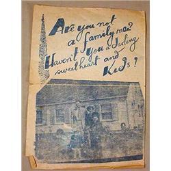 RARE WW2 ANTI-WAR PROTEST FLYER - KPA - Very rare