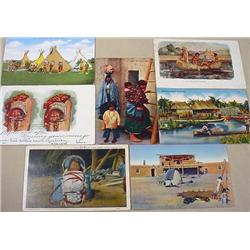 LOT OF 6 VINTAGE NATIVE AMERICAN INDIAN POSTCARDS