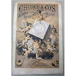 1879 CHURCH AND CO. RECEIPT BOOK COVER W/ CALENDAR