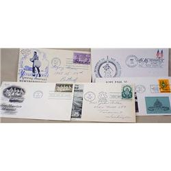 LOT OF 5 1950'S - 1970'S POSTAL FIRST DAY COVERS