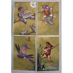 LOT OF 4 VICTORIAN TRADE CARDS - FANTASY - STAR CA