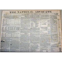 2-1-1828 NEWSPAPER W/ HENRY CLAY, ANDREW JACKSON -
