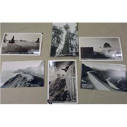 LOT OF 6 RPPC REAL PHOTO POSTCARDS  MOST OREGON