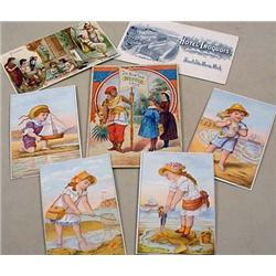 LOT OF ANTIQUE PAPER - INCL. VICTORIAN TRADE CARDS