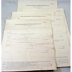 "LOT OF 5 1920'S RAILROAD ""TRIP PASS"" REQUEST FORMS"