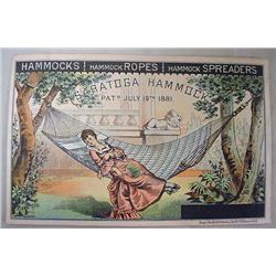 VICTORIAN TRADE CARD - SARATOGA HAMMOCKS